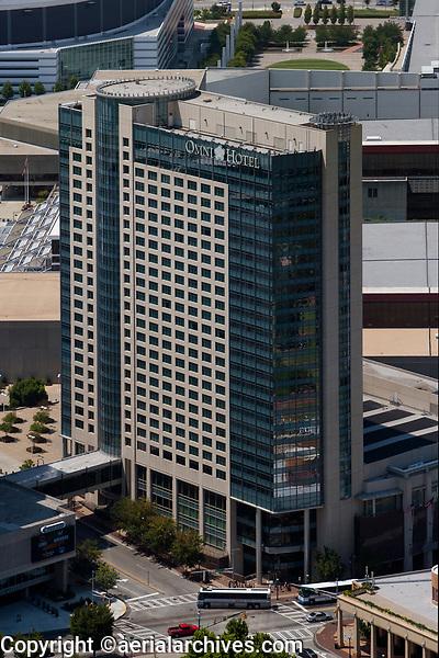 aerial photograph of the Omni Hotel, Atlanta, Georgia