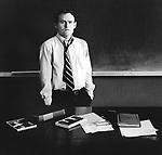 Dr. Vick- Philosophy teacher. 1970 Art Center College of Design, LA  classroom.