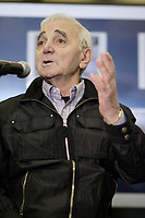Montreal (Qc) CANADA - April 17 2009 - Charles Aznavour talk to the medias about his photo exhibit and upcoming concerts in Montreal, CANADA.