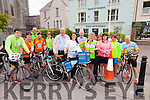 Taking part in the Big Blue Box Challenge organised by Bank of Ireland raising funds for St Vincent de Paul with branches on the Wild Atlantic Way cycling from one town to the next pictured here Cahersiveen branch and supporters cycling to Killorglin l-r; Shane O'Neill, Elma Shine, Sean Coffey, Eilis Dennehy, Martina O'Shea, David Hurley, Marguerite Lynch, Gerry Enright, Ann Landers, Janette Murphy, Sheila Coffey, Aine O'Connor, Linda O'Mahony & Pat Foley.
