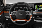 Car pictures of steering wheel view of a 2019 KIA K900 Luxury 4 Door Sedan Steering Wheel