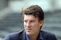 FAO SPORTS PICTURE DESK<br /> Pictured: Manager Michael Laudrup. Thursday 30 August 2012<br /> Re: Swansea City FC press conference at the Liberty Stadium, south Wales.