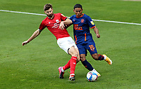 Blackpool's Demi Mitchell is tackled by Crewe Alexandra's Luke Murphy<br /> <br /> Photographer Rich Linley/CameraSport<br /> <br /> The EFL Sky Bet League One - Crewe Alexandra v Blackpool - Saturday 17th October 2020 - Gresty Road - Crewe<br /> <br /> World Copyright © 2020 CameraSport. All rights reserved. 43 Linden Ave. Countesthorpe. Leicester. England. LE8 5PG - Tel: +44 (0) 116 277 4147 - admin@camerasport.com - www.camerasport.com