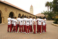 13 November 2006: (Not in order) Matt Ceran, Cameron Christoffers, John Ekins, Miki Groppi, Ed Howell, Jarod Keller, Brian Lindberg, Jesse Meredith, Jason Palacios, Evan Romero, Kawika Shoji, Brian Skinner, Garrett Werner, Brandon Williams on picture day in Stanford, CA.