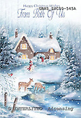 John, CHRISTMAS LANDSCAPE, paintings+++++,GBHSSXC50-545A,#xl# Landschaften, Weihnachten, paisajes, Navidad, illustrations, pinturas