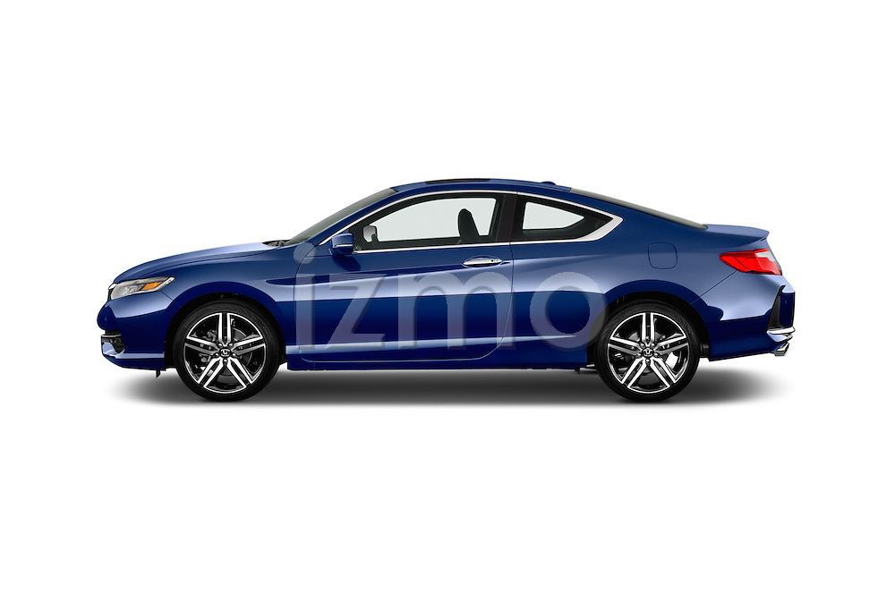 Car Driver side profile view of a 2017 Honda Accord Touring 2 Door Coupe Side View
