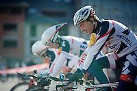3 Days of De Panne.stage 3b: De Panne-De Panne TT..Lotto-Belisol boys  warming up for the TT..