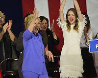 Hillary Clinton + Jamie King @ the Women For Hillary Organizing Event held @ West Los Angeles College.<br /> June 3, 2016