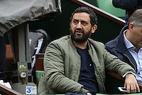 Cyril Hanouna watching tennis during Roland Garros tennis open 2016 on may 29 2016.