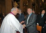 MONSIGNOR FRANCO CAMALDO CON FRANCESCO STORACE <br /> MESSA DI RINGRAZIAMENTO PER I 50 ANNI DI SACERDOZIO DEL CARDINAL CAMILLO RUINI - SAN GIOVANNI IN LATERANO ROMA 2004