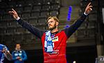 Johannes Bitter (TVB Stuttgart #1) ; BGV Handball Cup 2020 Finaltag: TVB Stuttgart vs. FRISCH AUF Goeppingen am 13.09.2020 in Stuttgart (PORSCHE Arena), Baden-Wuerttemberg, Deutschland<br /> <br /> Foto © PIX-Sportfotos *** Foto ist honorarpflichtig! *** Auf Anfrage in hoeherer Qualitaet/Aufloesung. Belegexemplar erbeten. Veroeffentlichung ausschliesslich fuer journalistisch-publizistische Zwecke. For editorial use only.
