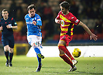 Partick Thistle v St Johnstone…23.02.16   SPFL   Firhill, Glasgow<br />Danny Swanson's shot is saved by Tomas Cerny<br />Picture by Graeme Hart.<br />Copyright Perthshire Picture Agency<br />Tel: 01738 623350  Mobile: 07990 594431