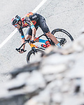 Damiano Caruso (ITA) Bahrain Victoriuos descends Alto Collado Venta Luisa during Stage 9 of La Vuelta d'Espana 2021, running 188km from Puerto Lumbreras to Alto de Velefique, Spain. 22nd August 2021.    <br /> Picture: Unipublic/Charly Lopez   Cyclefile<br /> <br /> All photos usage must carry mandatory copyright credit (© Cyclefile   Charly Lopez/Unipuplic)