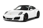 2018 Porsche 911 Carrera S 2 Door Coupe angular front stock photos of front three quarter view