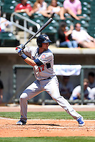 Tennessee Smokies third baseman Kris Bryant (17) during a game against the Birmingham Barons on April 21, 2014 at Regions Field in Birmingham, Alabama.  Tennessee defeated Birmingham 10-5.  (Mike Janes/Four Seam Images)