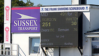 Sam Robson of Middlesex manages to score two hundred and fifty runs which is a career-best score during Sussex CCC vs Middlesex CCC, LV Insurance County Championship Division 3 Cricket at The 1st Central County Ground on 7th September 2021