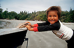 Canada, Nuu Chah Nulth child, Clayoquot Sound, Vancouver Island, .
