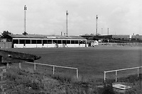 General view of Erith & Belvedere FC Football Ground, Park View, Lower Road, Belvedere, Kent, pictured circa 1985