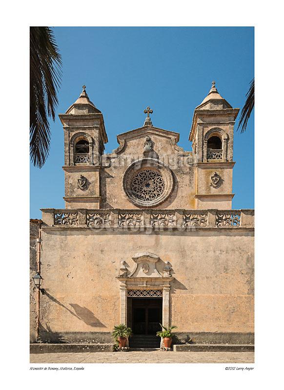 Façade, Monastir de Bonany, Mallorca, Spain by Larry Angier.