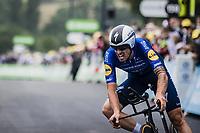 Mattia Cattaneo (ITA/Deceuninck-Quick Step)<br /> <br /> Stage 5 (ITT): Time Trial from Changé to Laval Espace Mayenne (27.2km)<br /> 108th Tour de France 2021 (2.UWT)<br /> <br /> ©kramon