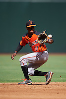 San Francisco Giants Jalen Miller (15) during an instructional league game against the Arizona Diamondbacks on October 16, 2015 at the Chase Field in Phoenix, Arizona.  (Mike Janes/Four Seam Images)