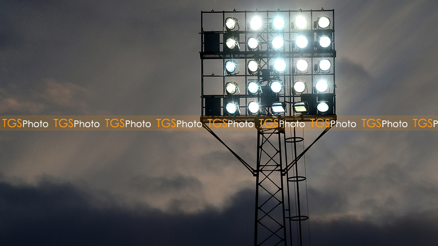 One of the floodlights at Brentford FC during Brentford vs Barnsley, Sky Bet EFL Championship Football at Griffin Park on 22nd July 2020