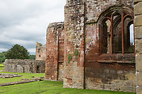 Lanercost Priory, Cumbria, England, UK.  Ruins of 13th. Century Priory, adjacent to   Anglican Church of Mary Magdalene.