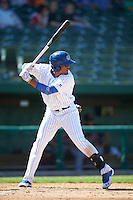 South Bend Cubs right fielder Eddy Martinez (15) at bat during the second game of a doubleheader against the Peoria Chiefs on July 25, 2016 at Four Winds Field in South Bend, Indiana.  South Bend defeated Peoria 9-2.  (Mike Janes/Four Seam Images)