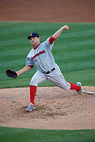 Pawtucket Red Sox starting pitcher Brian Johnson (35) during a game against the Scranton/Wilkes-Barre RailRiders on May 15, 2017 at PNC Field in Moosic, Pennsylvania.  Scranton defeated Pawtucket 8-4.  (Mike Janes/Four Seam Images)