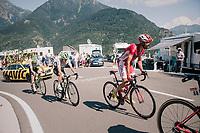 up the final climb of the day (in Spain!): the Col du Portillon (Cat1/1292m)<br /> <br /> Stage 16: Carcassonne > Bagnères-de-Luchon (218km)<br /> <br /> 105th Tour de France 2018<br /> ©kramon