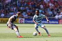 ST. PAUL, MN - AUGUST 21: Khiry Shelton #11 of Sporting Kansas City during a game between Sporting Kansas City and Minnesota United FC at Allianz Field on August 21, 2021 in St. Paul, Minnesota.