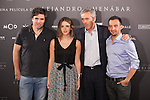 Spanish film director Alejandro Amenabar and British actress Emma Watson pose with the producers during the `Regresion´ (Regression) film presentation in Madrid, Spain. August 27, 2015. (ALTERPHOTOS/Victor Blanco)