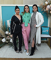 """BEVERLY HILLS, CA - MAY 26: Director Natalie Morales (C) and co-lead actresses Kuhoo Verma (L) and Victoria Moroles (R) attend a special event for the Hulu original film """"Plan B"""" at L'Ermitage Beverly Hills on May 26, 2021 in Beverly Hills, California. (Photo by Frank Micelotta/HULU/PictureGroup)"""