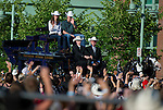 July 7, 2011 - Calgary, Alberta, Canada - Catherine Middleton, Duchess of Cambridge and Prince William arrive at the Calgary Stampede grounds in front of BMO centre to watch a rodeo demonstration. Calgary is the last Canadian stop of the British Royal Tour. Photo by Jimmy Jeong / Rogue Collective