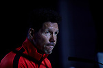 Diego Pablo Simeone during the Press Conference before the UEFA Champions League match between Atletico de Madrid and Juventus at Wanda Metropolitano Stadium in Madrid, Spain. September 17, 2019. (ALTERPHOTOS/A. Perez Meca)