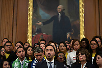 United States Representative Joaquin Castro (Democrat of Texas), joined by other Democratic lawmakers, speaks during a press conference on the Deferred Action for Childhood Arrivals program on Capitol Hill in Washington D.C., U.S. on Tuesday, November 12, 2019.  The Supreme Court is currently hearing a case that will determine the legality and future of the DACA program.  <br /> <br /> Credit: Stefani Reynolds / CNP /MediaPunch