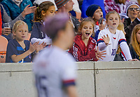 HOUSTON, TX - JANUARY 31: Young  Megan Rapinoe fans during a game between Panama and USWNT at BBVA Stadium on January 31, 2020 in Houston, Texas.