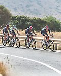 Ineos Grenadiers in the peloton during Stage 8 of La Vuelta d'Espana 2021, running 173.7km from Santa Pola to La Manga del Mar Menor, Spain. 21st August 2021.     <br /> Picture: Cxcling | Cyclefile<br /> <br /> All photos usage must carry mandatory copyright credit (© Cyclefile | Cxcling)