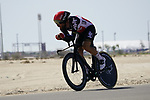 Thomas De Gendt (BEL) Lotto-Soudal during Stage 2 of the 2021 UAE Tour an individual time trial running 13km around  Al Hudayriyat Island, Abu Dhabi, UAE. 22nd February 2021.  <br /> Picture: Eoin Clarke | Cyclefile<br /> <br /> All photos usage must carry mandatory copyright credit (© Cyclefile | Eoin Clarke)