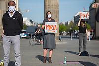 2020/04/23 Politik | Berlin | RAV-Kundgebung fuer Gefluechtete