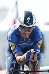 Julian Alaphilippe (FRA) Deceuninck-Quick Step during Stage 20 of the 2021 Tour de France, an individual time trial running 30.8km from Libourne to Saint-Emilion, France. 17th July 2021.  <br /> Picture: Colin Flockton | Cyclefile<br /> <br /> All photos usage must carry mandatory copyright credit (© Cyclefile | Colin Flockton)
