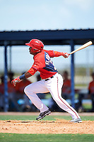 GCL Nationals center fielder Darryl Florentino (31) at bat during a game against the GCL Astros on August 14, 2016 at the Carl Barger Baseball Complex in Viera, Florida.  GCL Nationals defeated GCL Astros 8-6.  (Mike Janes/Four Seam Images)