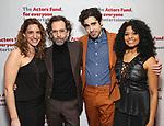 Eva Price, Daniel Fish, Rebecca Naomi Jones and Damon Daunno attends The Actors Fund Annual Gala at Marriott Marquis on April 29, 2019  in New York City.