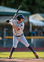 29 August 2019: Connecticut Tigers infielder Ryan Kreidler in action against the Vermont Lake Monsters at Centennial Field in Burlington, Vermont. The Tigers defeated the Lake Monsters 6-2 in the first game of their NY Penn League double-header.  Mandatory Credit: Ed Wolfstein Photo *** RAW (NEF) Image File Available ***