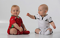 Swansea City FC baby and toddler studio photo-shoot at the Liberty Stadium, Swansea, Wales, UK. Wednesday 10 August 2017