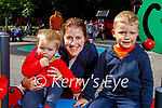 Conor, James and Theresa Baker enjoying the playground in the Killarney National Park on Sunday.