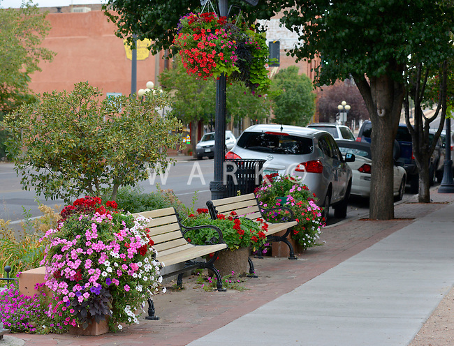 Street scenes along B Street and Union Avenue, Pueblo, Colorado.  Summer 2012