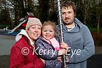 Enjoying the playground in the Killarney National park on Saturday, l to r; Rosanna, Eddie and Brendan McGough