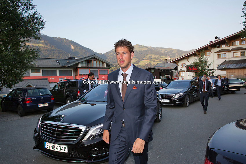 Austria, Kitzbuhel, Juli 15, 2015, Tennis, Davis Cup, Dutch team arriving at official  dinner Pictured: Robin Haase<br /> Photo: Tennisimages/Henk Koster