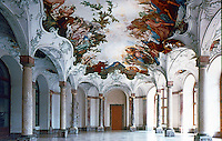 Wurzburg: Wurzburg Palace, known as Residenz. Der Gartensaal (Garden Hall). Baroque and Rococo details.